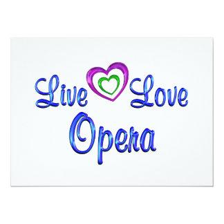 Live Love Opera Personalized Announcement