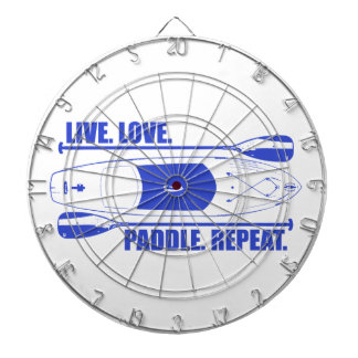 Live Love Paddle Repeat Dartboard