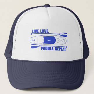 Live Love Paddle Repeat Trucker Hat