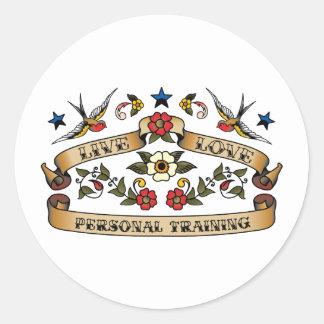 Live Love Personal Training Round Sticker