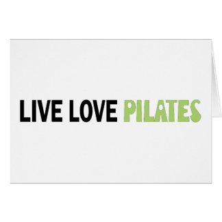 Live Love Pilates Original design Greeting Card