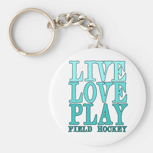 Live, Love, Play - Field Hockey Key Chains
