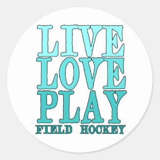 Live, Love, Play - Field Hockey Round Sticker