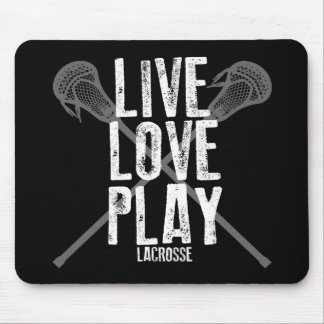 Live, Love, Play Lacrosse Mouse Pad