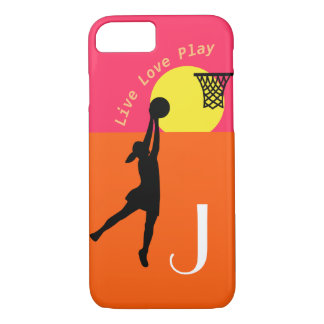 Live Love Play Personalised Netball Design iPhone 8/7 Case