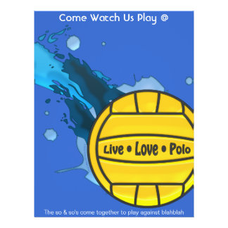 Live Love Polo - Water Polo Fliers 21.5 Cm X 28 Cm Flyer