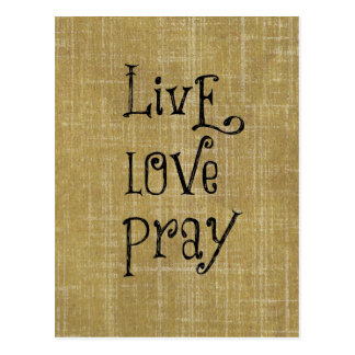 Live Love Pray Christian Quote Affirmation Postcard