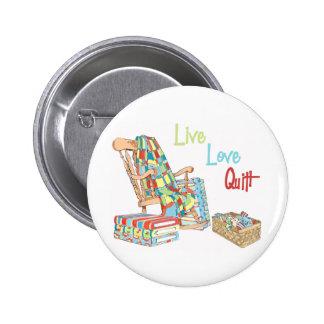 Live..Love..Quilt 6 Cm Round Badge