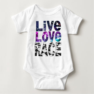 live love race baby bodysuit