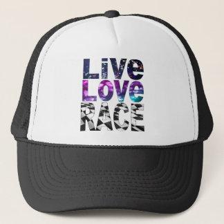 live love race trucker hat