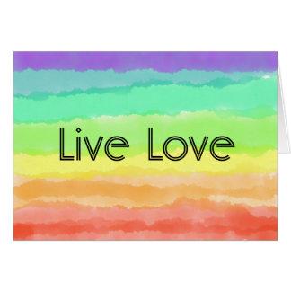 Live Love Rainbow Card