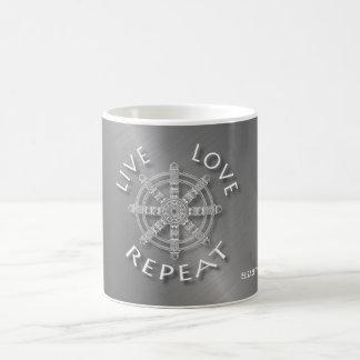 Live Love Repeat Buddhist Samsara Dukkha Karma Coffee Mug