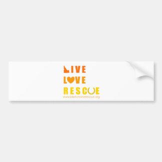 Live Love Rescue Idaho Horse Rescue Bumper Sticker