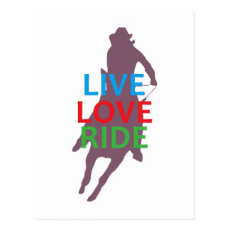 LIVE LOVE RIDE POSTCARD