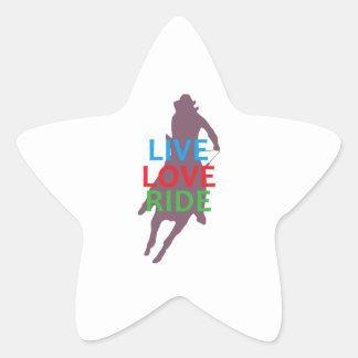 LIVE LOVE RIDE STAR STICKERS