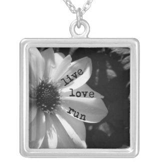 Live Love Run pendant by Vetro Jewelry