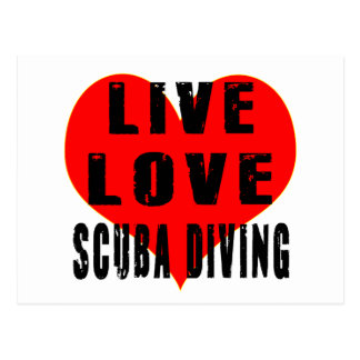 Live Love Scuba Diving Postcard