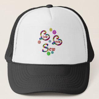 Live Love Sew Trucker Hat