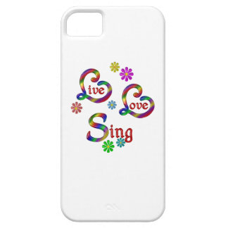 Live Love Sing Case For The iPhone 5