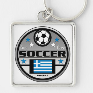Live Love Soccer Greece Key Chain