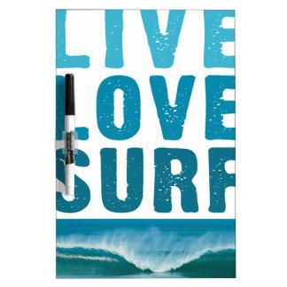 live_love_surf dry erase whiteboard