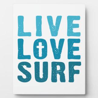 live-love-surf plaques