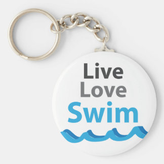 Live_Love_Swim Key Ring