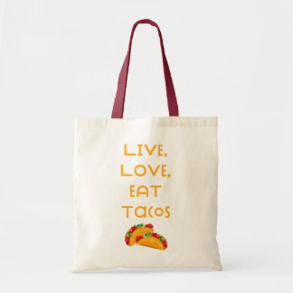 Live Love Tacos V Tote Bag