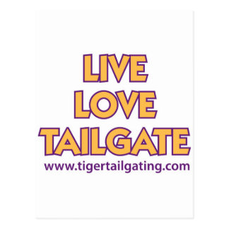 Live Love Tailgate Tiger Tailgating Cards Postcard