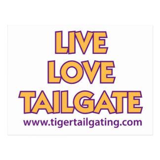 Live Love Tailgate Tiger Tailgating Cards Postcard