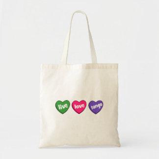 live love tango tote bags