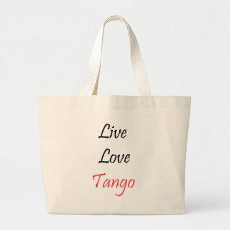 Live Love Tango exclusive design! Tote Bags