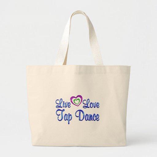 Live Love Tap Dance Canvas Bags