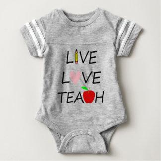 live love teach2 baby bodysuit