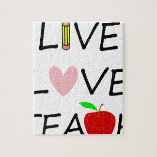 live love teach2 jigsaw puzzle