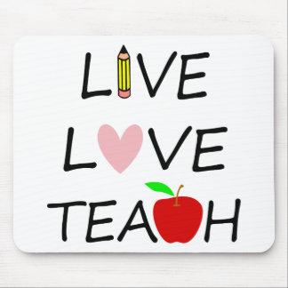 live love teach2 mouse pad