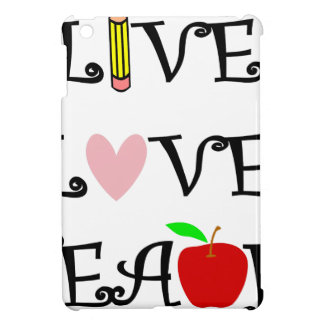 live love teach3 iPad mini cases