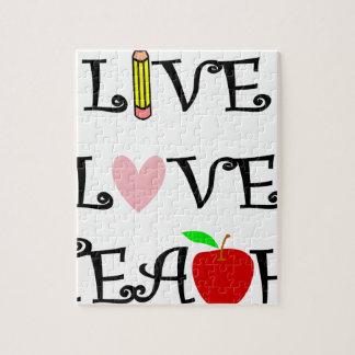 live love teach3 jigsaw puzzle