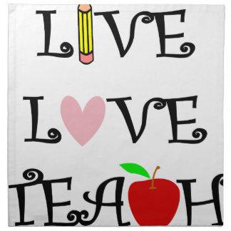 live love teach3 napkin