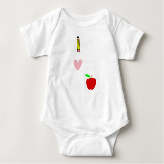 live love teach4 baby bodysuit