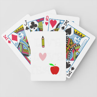 live love teach4 bicycle playing cards