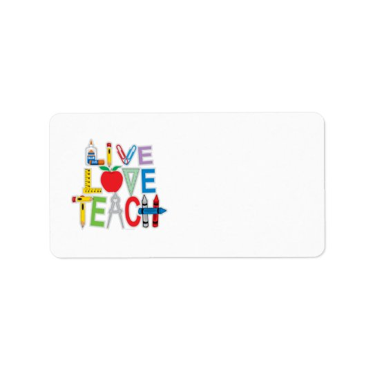 Live Love Teach Address Label