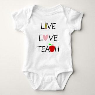 live love teach baby bodysuit