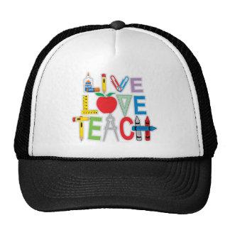 Live Love Teach Trucker Hat