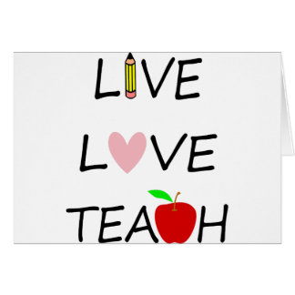 live love teach card