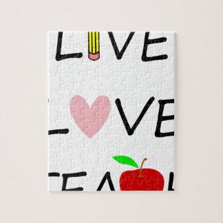 live love teach jigsaw puzzle