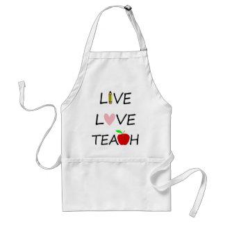 live love teach standard apron