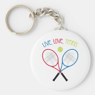 Live Love Tennis Key Ring