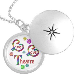 Live Love Theatre Locket Necklace