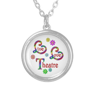 Live Love Theatre Silver Plated Necklace